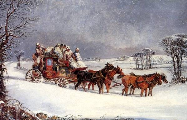 The York To London Royal Mail On The Open In Winter